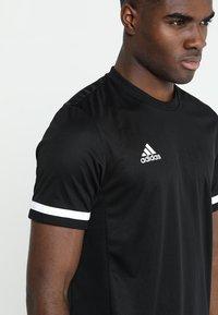 adidas Performance - TEAM 19 - T-shirt imprimé - black - 4