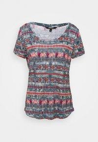 Desigual - T shirt SANTORINI - T-shirt imprimé - blue - 5