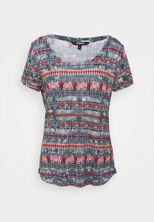 T shirt SANTORINI - T-shirt imprimé - blue