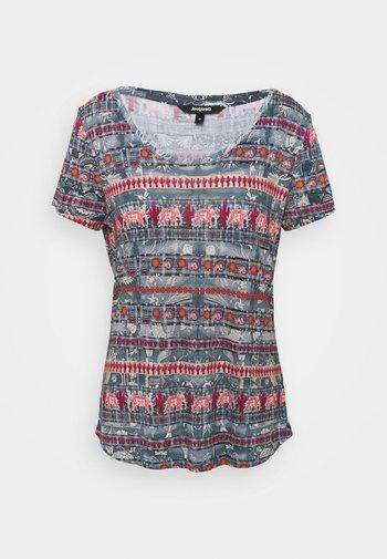 T shirt SANTORINI - Print T-shirt - blue