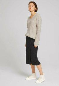 TOM TAILOR DENIM - Wrap skirt - mottled grey - 1