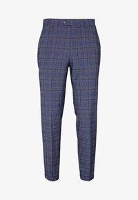 JPRBLAJONES CHECK TROUSER - Suit trousers - dark navy