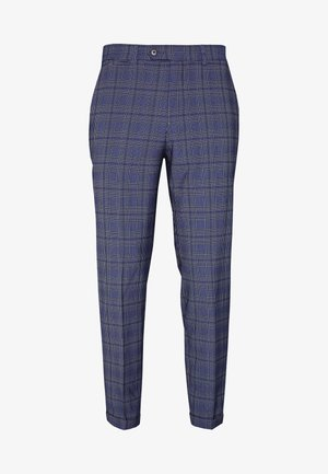 JPRBLAJONES CHECK TROUSER - Suit trousers - dark navy