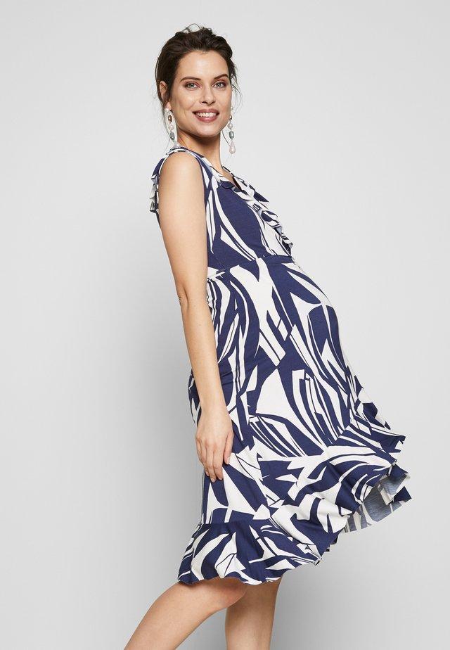 TULIPANO - Jerseyklänning - blue palms