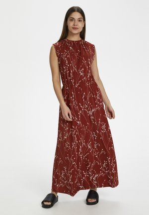 KALVINIW LONG - Maxi dress - cayenne branches