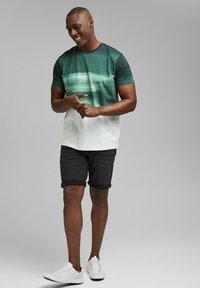 Esprit - FASHION SLUB - Print T-shirt - teal green - 1
