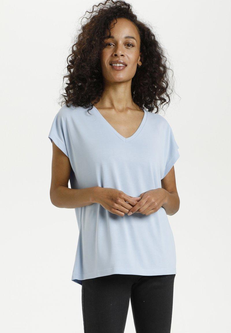 Kaffe - LISE - T-shirt basic - chambray blue