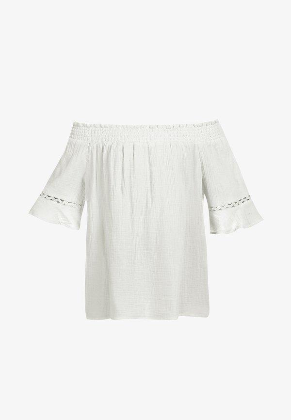 myMo CARMEN-BLUSE - Bluzka - wollweiss/biały VGYD
