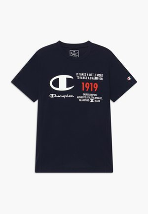 CHAMPION X ZALANDO BOYS PERFORMANCE TEE - T-shirt z nadrukiem - dark blue