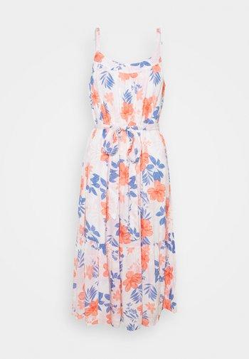 TIE WAIST DRESS - Day dress - white
