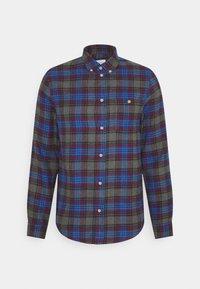 Košile - mottled dark grey/blue