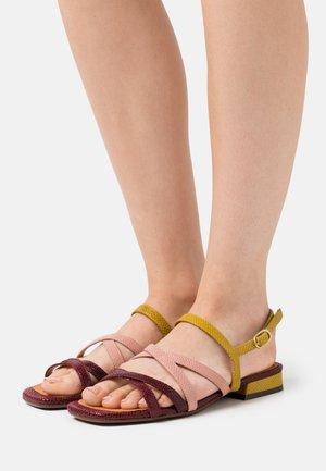 TELO - Sandals - grape/powder/curry