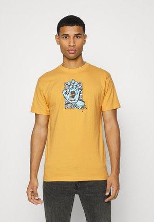 FLIER HAND  UNISEX - Print T-shirt - yellow