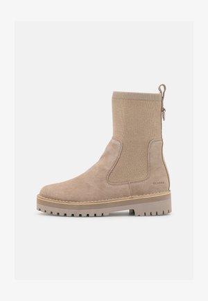 ROCK  - Platform ankle boots - sand