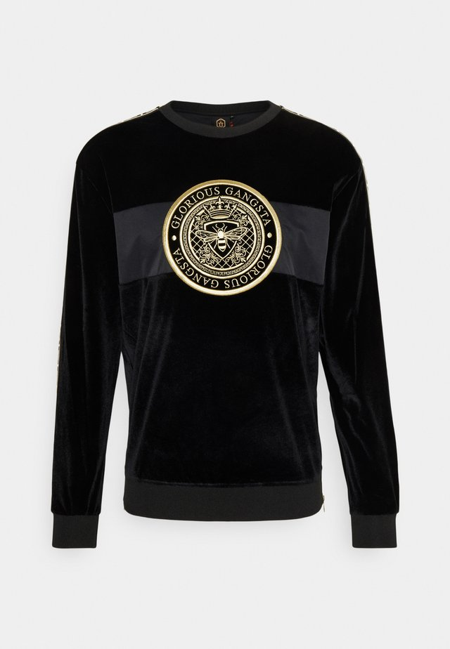 HERVAS CREW - Sweater - black /gold