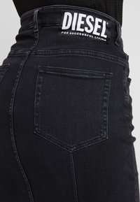 Diesel - DE-PENCIL-ZIP GONNA - Kokerrok - black