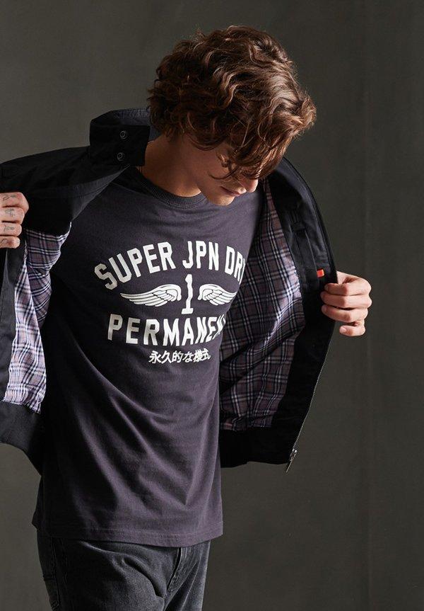 Superdry SUPERDRY FUNNEL HARRINGTON JACKET - Kurtka wiosenna - black/czarny Odzież Męska JVAU
