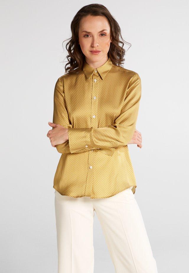 Button-down blouse - goldgelb