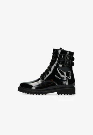 Cowboy/biker ankle boot - schwarz pt