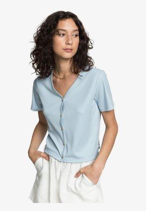 Button-down blouse - cerulean
