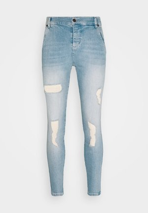 DISTRESSED SUPER  - Vaqueros pitillo - light-blue denim