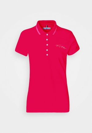 SLIM GOLD SCRIPT - Polo shirt - bright jewel