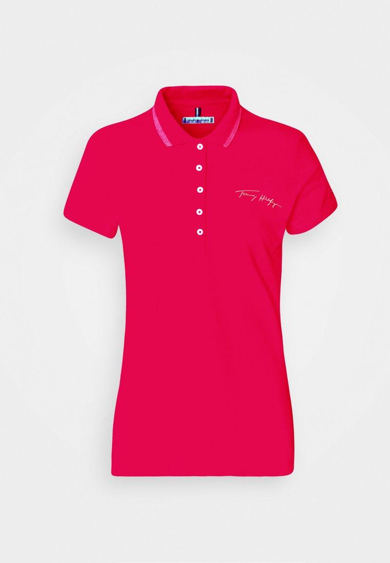 Tommy Hilfiger - SLIM GOLD SCRIPT - Polo shirt - bright jewel