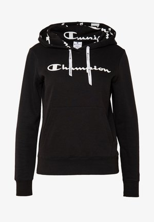 HOODED - Felpa con cappuccio - black