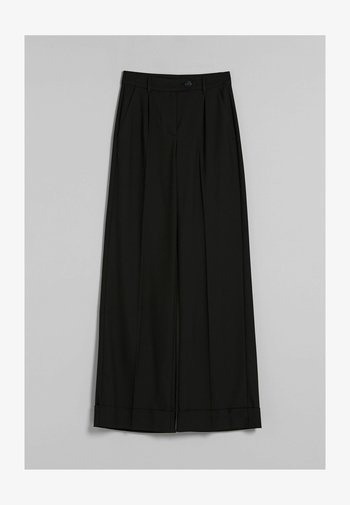 WIDE - Trousers - black