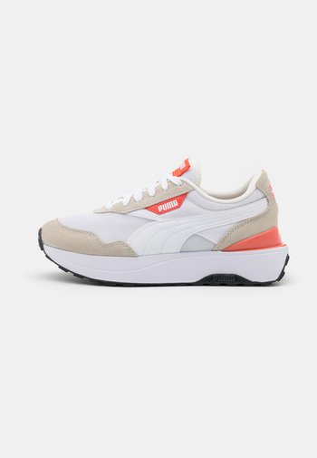 CRUISE RIDER CLASSIC - Trainers - white/marshmallow/hot coral