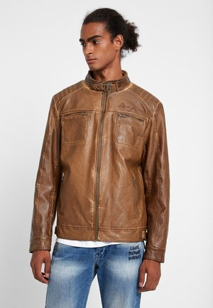 CHAQ_XELI - Faux leather jacket - brown