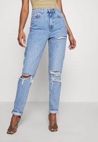 Topshop Tall - MOM TOKYO RIP - Straight leg jeans - bleach - 0