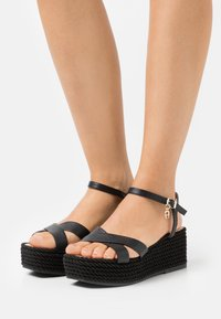 AIGNER - GRAZIELLA  - Platform sandals - black - 0