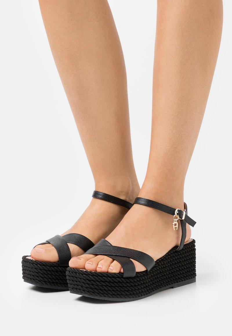 AIGNER - GRAZIELLA  - Platform sandals - black