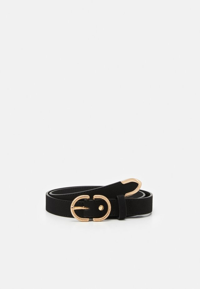 TRAUMWEN - Belt - black/shiny gold-coloured