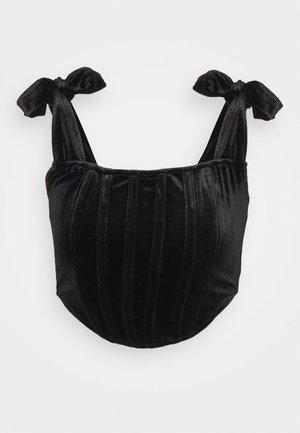 TIE STRAP CORSET - Top - black