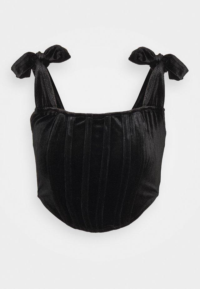 TIE STRAP CORSET - Débardeur - black