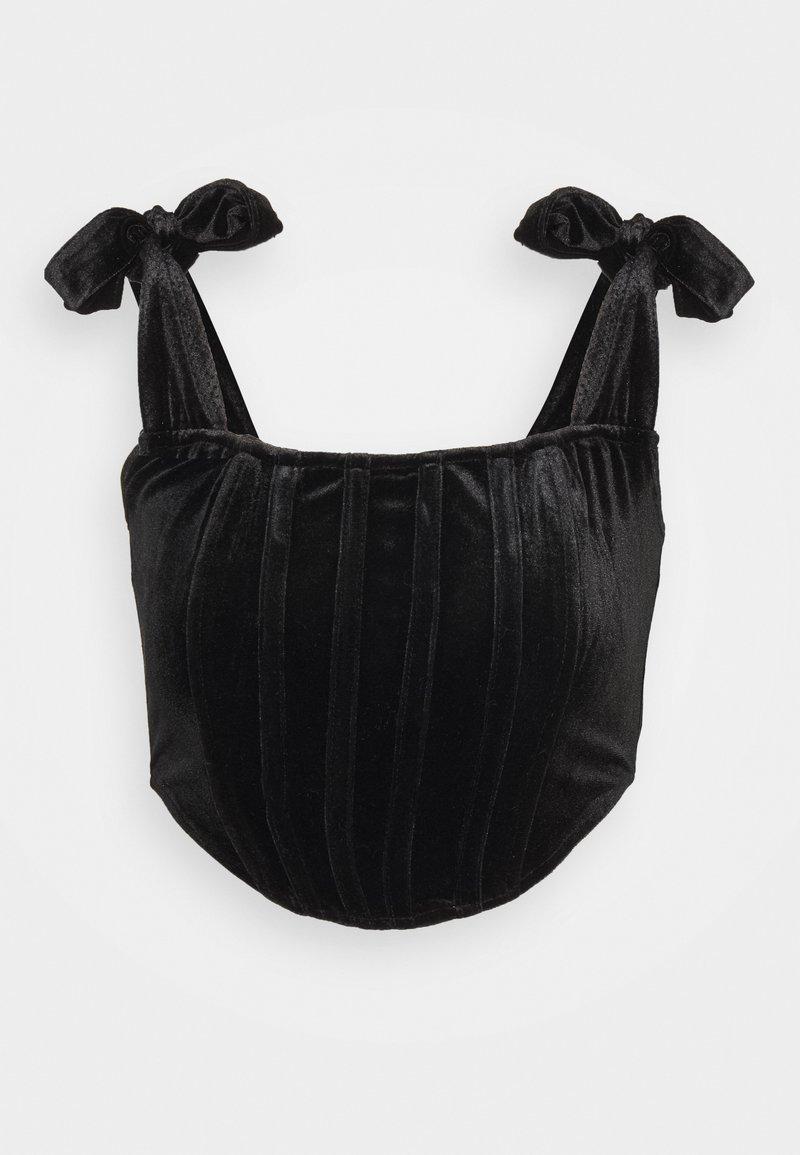 Missguided - TIE STRAP CORSET - Top - black