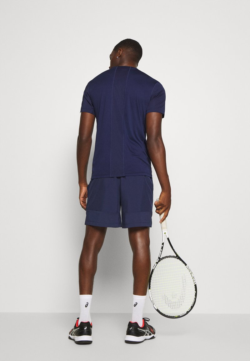 ASICS - CLUB SHORT - Pantalón corto de deporte - peacoat/graphite grey