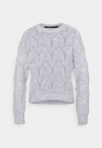 VMLANA O NECK - Jumper - light grey melange
