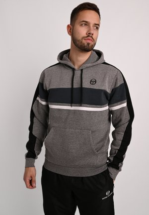 Hoodie - dgry/mdnbl