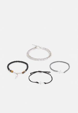 T BAR CHAIN MOTIF 4 PACK - Bracelet - black