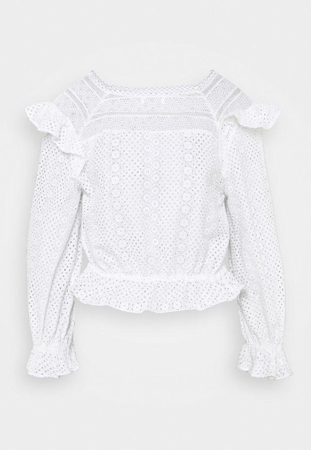 Långärmad tröja - ecru