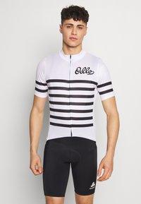 ODLO - STAND UP COLLAR FULL ZIP  - T-shirt imprimé - white/black - 0