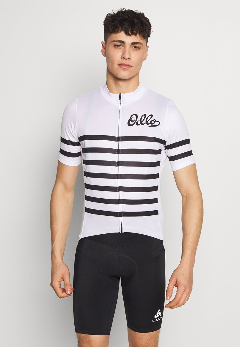ODLO - STAND UP COLLAR FULL ZIP  - T-shirt imprimé - white/black