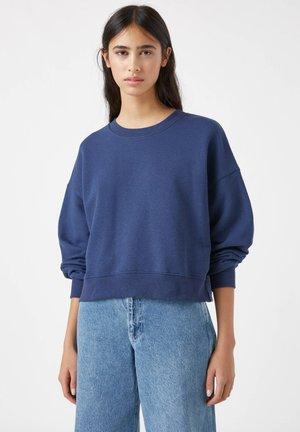 MIT BREITEM PATENTMUSTER - Sweatshirt - dark blue