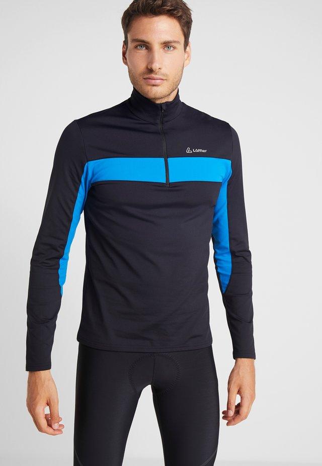 Long sleeved top - black/mauritius