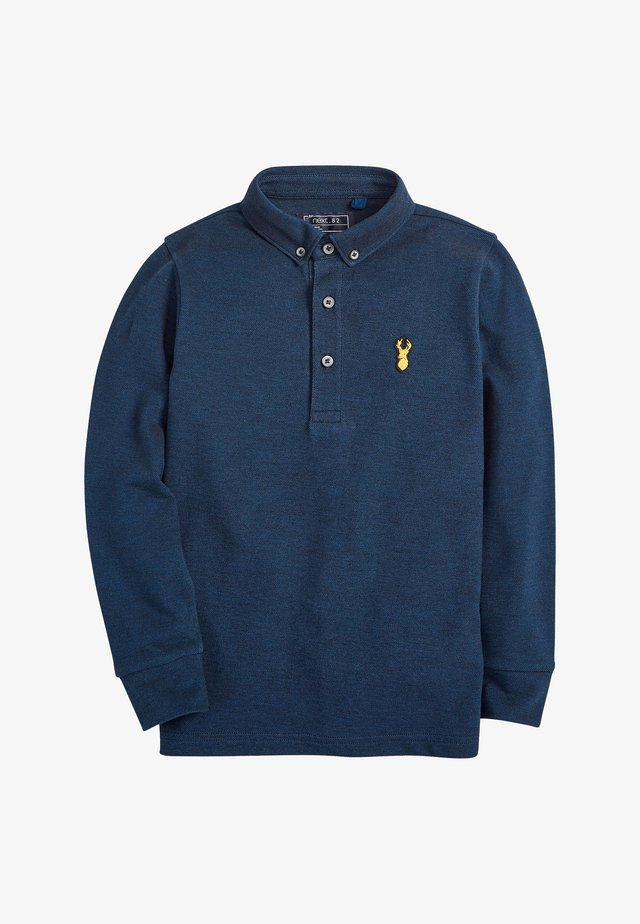 LONG SLEEVE - Polo - dark blue