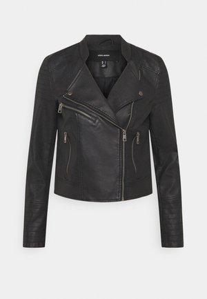 VMBEATE  - Imitatieleren jas - black