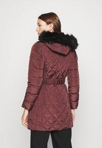 Dorothy Perkins - LONG PUFFER COAT - Winter coat - wine - 2